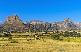 Grosser Afrikanischer Grabenbruch, nördliche Ausläufer mit dem Gheralta BergmassivTigray, Äthiopien
