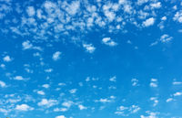 Blue sky with lots small clouds