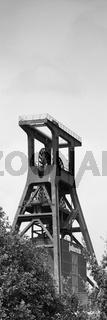 Doppelbock-Foerdergeruest, Zeche Zollverein, Essen, Ruhrgebiet, Nordrhein-Westfalen, Deutschland