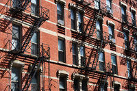 Fire escape ladders in New York