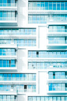 real estate business background - modern abstract building facade  -