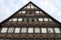 House Alt-Lemgo - historic half-timbered house with richly ornamented gable