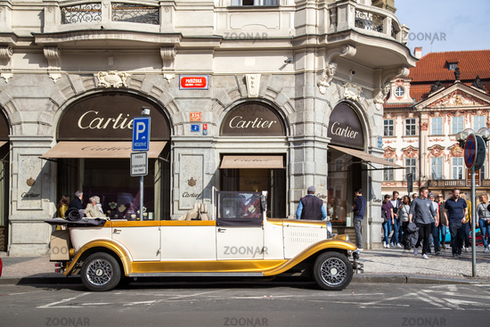 Vintage Car in Prague