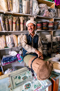 Hat maker in Pakistan