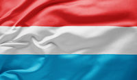 Waving national flag of Luxembourg