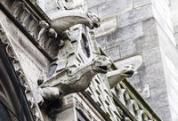 Gargoyles of Notre Dame cathedral in Paris