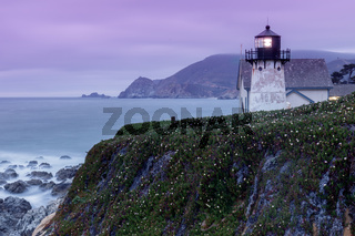 Twilight skies at Point Montara Lighthouse.