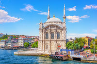 Ortakoy Mosque,beautiful facade view in Istanbul, Turkey