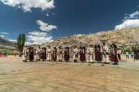 Singing group on festival in Ladakh