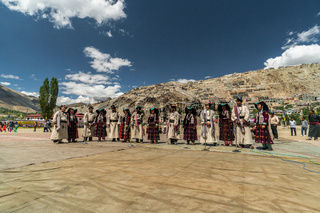 Singing group on festival in Ladakh