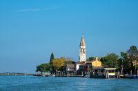 Blick auf die Insel Mazzorbo bei Venedig in Italien