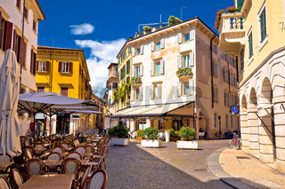 Italian street and cafe in Verona view