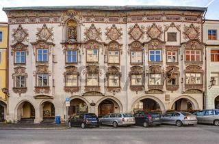 Main building with rococo façade by Johann Baptist Zimmermann, Wasserburg am Inn, Oct 2010