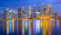 Panorama Singapore Downtown business skyline