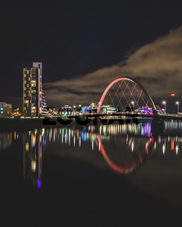 The Clyde Arc and light reflections at night