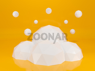 Creative cloud background for your business. 3d illustration.