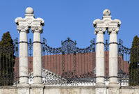 Ornate wrought fence in Budapest