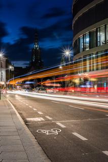 Traffic Light Streaks Neu Ulm Münster Curve Leading Line City Street