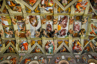 Sistine Chapel, ceiling, Vatican city, Italy.