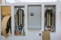 Switchboard voltage with circuit breakers electrical
