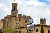 Ancient center of village Volterra in Italy