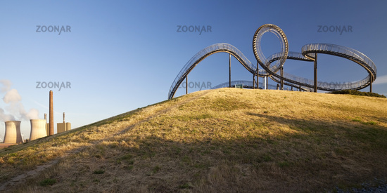 Tiger and Turtle - Magic Mountain, art sculpture and landmark, Angerpark, Duisburg, Germany, Europe