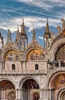 The Facade of the basilica San Marco in Venice