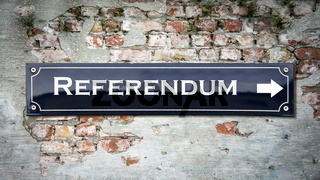 Street Sign to Referendum