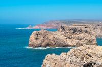 Atlantic coast near Cape Sao Vicente. Algarve, Portugal