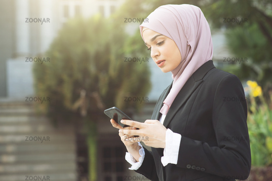 business woman using smart phone.