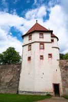 Prison tower of the castle Wilhelmsburg in Schmalkalden in Thuringia