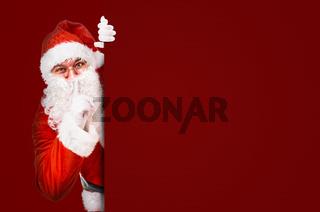 Santa Claus asking for silence