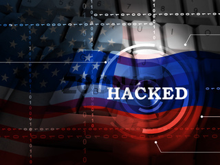 Keyboard Hacking Russian Hackers Online 3d Illustration