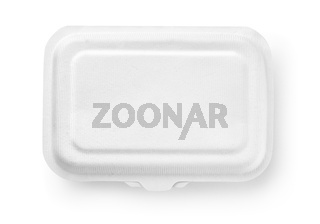 Top view of biodegradable paper food box