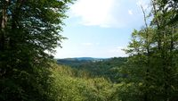 View from the viewpoint Marienblick near Eisenach in Germany