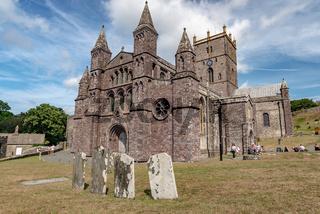 Main facade of St. Davids Cathedral, Wales