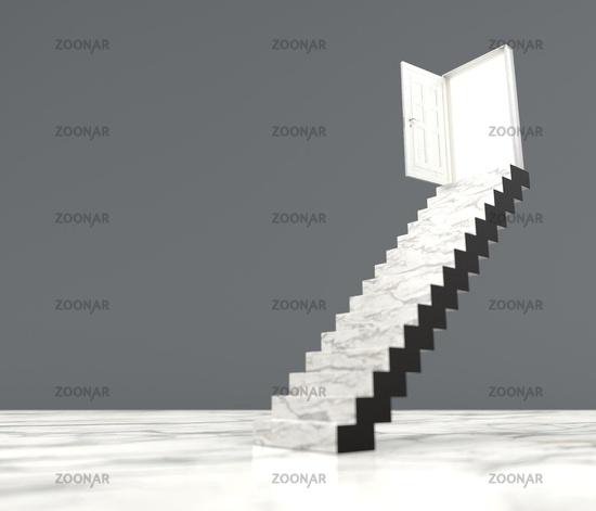Staircase Opened Door Success