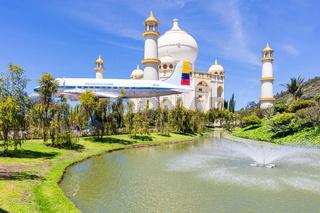 Colombia Bogota Jaime Duque Park old plane fountain and Taj Maha
