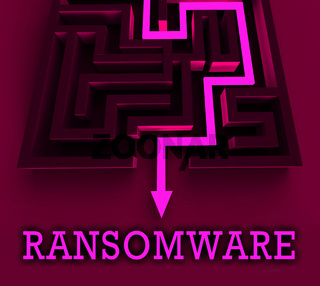 Ransom Ware Extortion Security Risk 3d Rendering