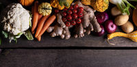 Harvest vegetables background