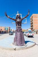 Bolivia Uyuni iron sculpture in  railway avenue