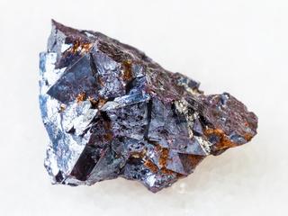 crystalline Cuprite stone on white