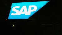 KÖLN, September 2019: SAP Logo auf DMEXCO Messe