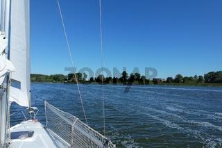 Westpommersche Segelroute, die Dievenow vor Ort Wolin