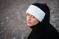 Up close portrait of a teen hispanic girl
