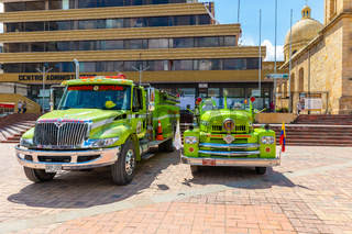 Duitama Colombia fire brigade vehicles