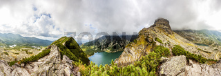 View from Krab in Tatra Mountains, Poland, Europe. 360 degree Panorama