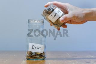 Financial Difficulty - Having Bigger Debt Than Saving