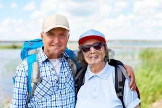 Happy Senior Tourists Posing
