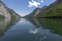 Der Königssee in Südbayern im Sommer